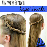 Uneven French Rope Twists
