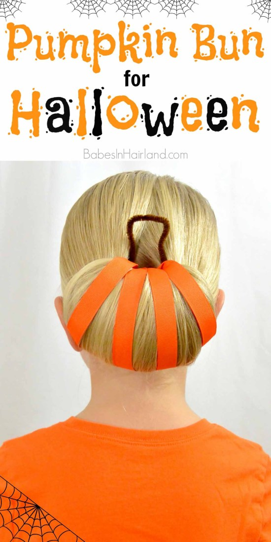 Pumpkin Bun | Halloween Hairstyle from BabesInHairland.com