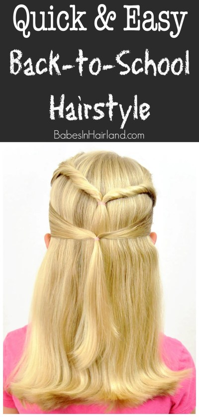Quick & Easy Back-to-School Hairstyle from BabesInHairland.com