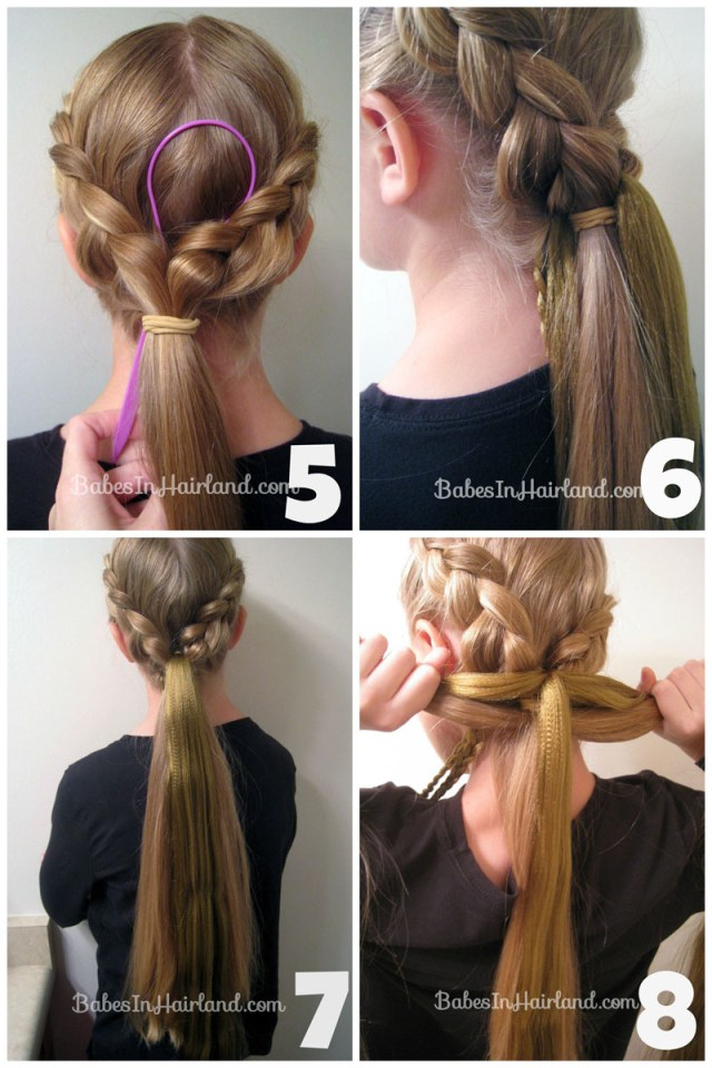 rapunzel hair tutorial - using extensions - babes in hairland