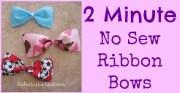 2 minute sew ribbon bows - babes