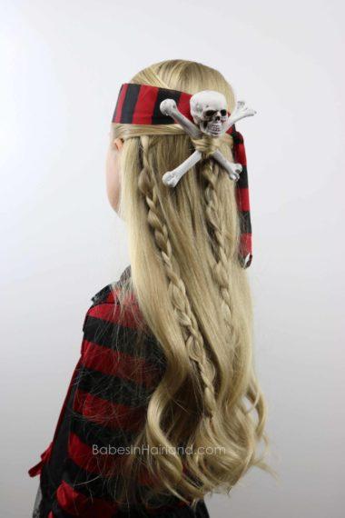 Skull Amp Crossbones Pirate Hair Halloween Hairstyle