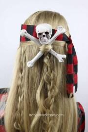 skull & crossbones pirate hair