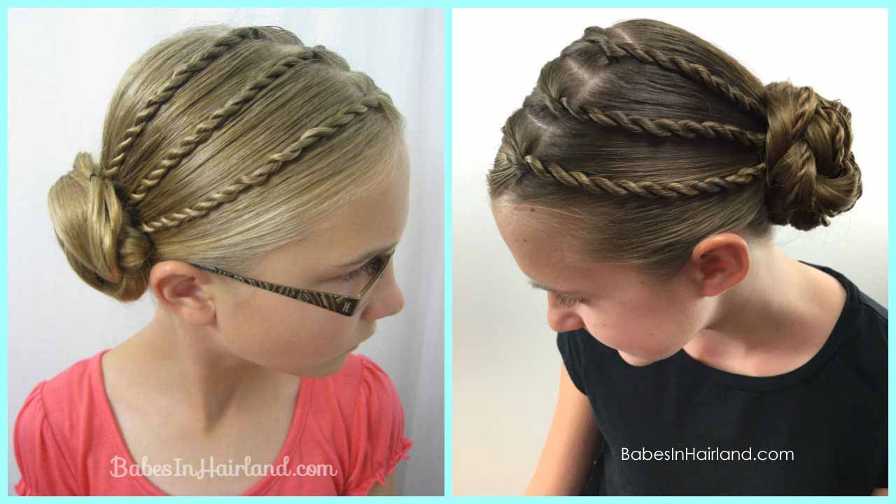 J Hairstyle: Triple Twists And Bun