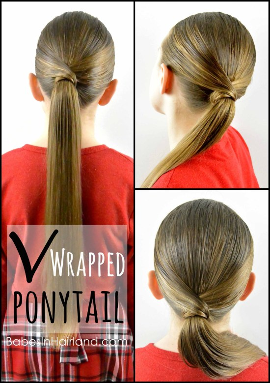 V Wrapped Ponytail From BabesInHairland Hair Wrap Hairstyle