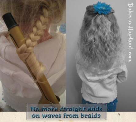 No More Straight Ends of Waves from Braids (1)