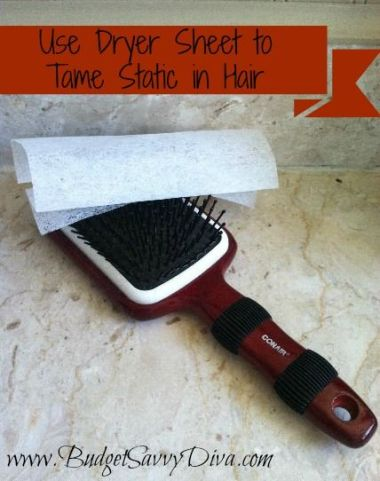 How to Get Rid of Static Cling in Hair from BabesInHairland.com #hair #statichair #staticcling #hairhack