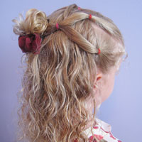 Simple Style for Curly Hair