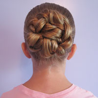 Double Braided Bun for Shorter Hair