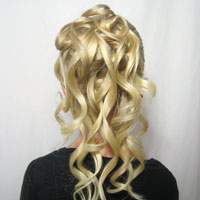 Cascading Feather Braided Updo