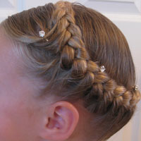 Half French Braiding – Crown