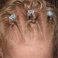 Baby Square Knots Hairstyle