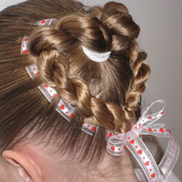 Heart to Heart Valentine's Day Hairstyle