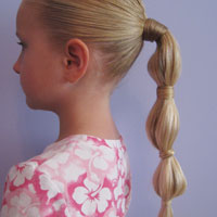 Hair Wrapped Bubble Ponytail