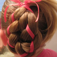 4 Strand Braid with Ribbon In It – Video