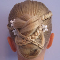 Micro Braid Updo