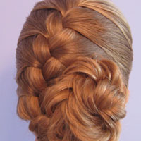 French Braid and Fishbone Bun