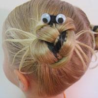 Halloween Spider Hairdo