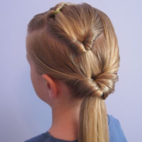 Triple Flipped Ponytail Hairstyle