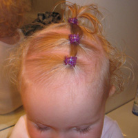 Row of 3 Ponytails – Baby Hairstyle
