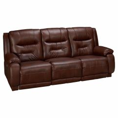 Crescent Power Sofa Recliner With Headrest Metal Frame Slide Under Table Reclining Leather