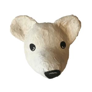 papiermache ijsbeer voor in de kinderkamer