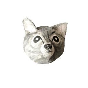 papiermache poes genaamd miauw