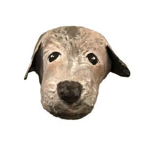 Papiermache hond muur uniek borderterrier