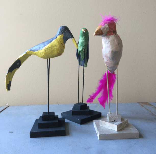 Birds of a feather nieuwe serie vogels op stok
