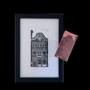 stempel van een grachtenpanden Utrecht
