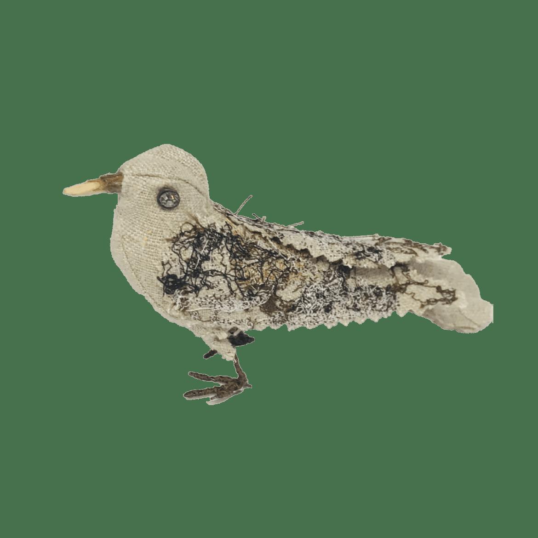 uniek bruin vogeltje van textiel