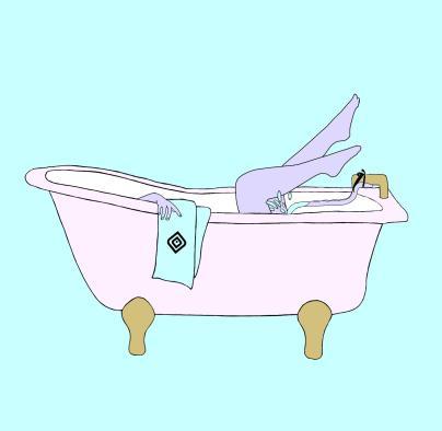The WaterSlyde by Lovability to enjoy the bathtub technique (aka water masturbation).