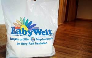 Einkaufstüte der Babywelt in Gersthofen