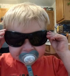 He thinks he looks pretty cool :)