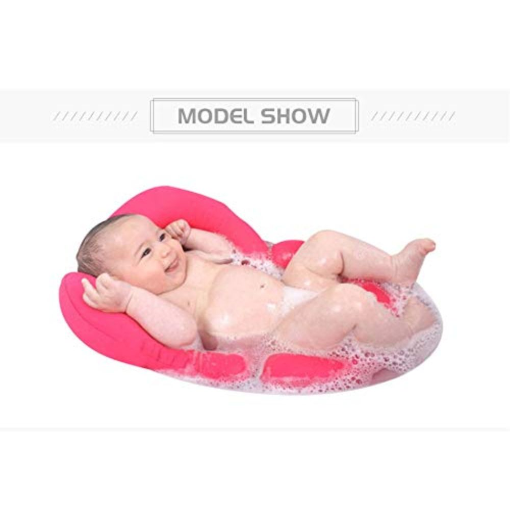 babies bloom pink baby bath pad tub pillow soft seat for newborn without strap