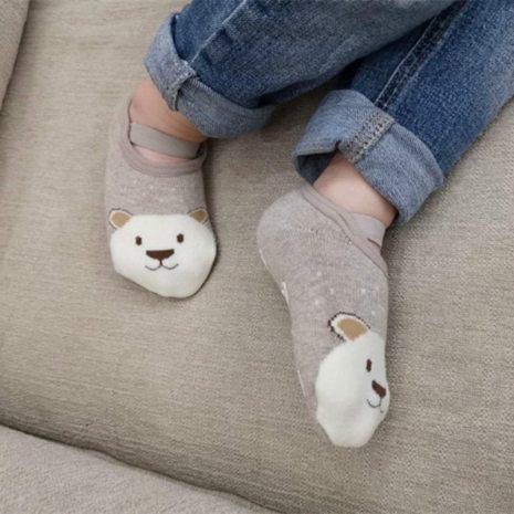 1 Pair Fashion Baby Girls Boys Cute Cartoon Non slip Cotton Toddler Floor Socks Animal pattern 2