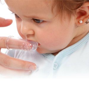 3 Colors Baby Finger Toothbrushes Infant Silicone Teeth Gum Tongue Teether Cleaner 1