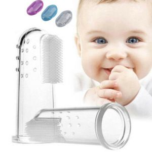 3 Colors Baby Finger Toothbrushes Infant Silicone Teeth Gum Tongue Teether Cleaner