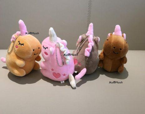 4Colors Small 12CM Approx Stuffed animal horse plush toys kid s little key chain plush dolls 4