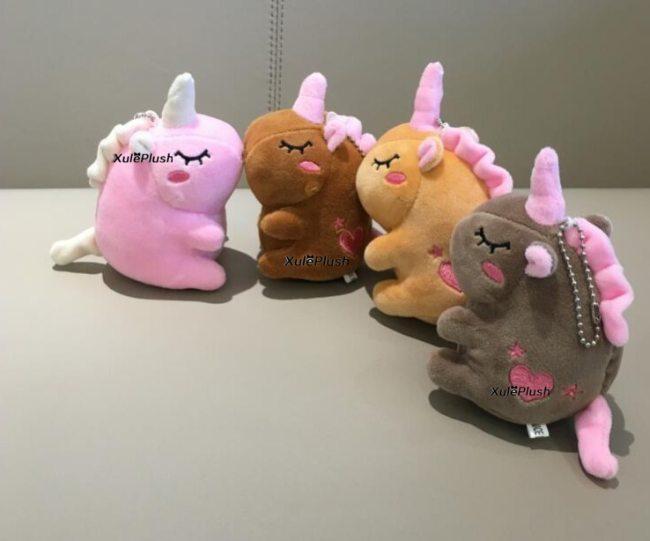 4Colors Small 12CM Approx Stuffed animal horse plush toys kid s little key chain plush dolls 5