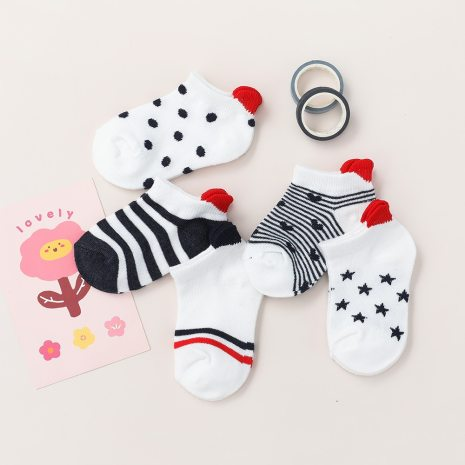 5Pairs lot 0 2Y Cute Lovely Short Baby Socks Red Heart for Girls Cotton Mesh Cute 1