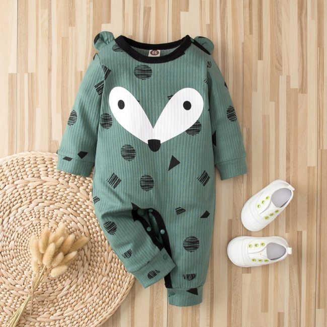 Autumn Kintted baby clothes full sleeve cotton infantis baby clothing romper cartoon costume ropa bebe newborn 1