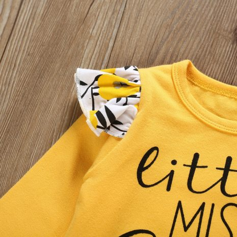 Autumn Newborn Kid Toddler Infant Baby Boy Girl clothes Letter Printed Playsuit Romper Print Pants Hairband 2