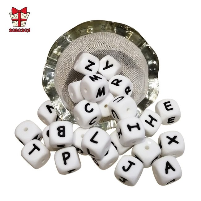 BOBO BOX 10Pcs Silicone English Alphabet Beads Letter BPA Free Material For DIY Baby Teething Necklace 3