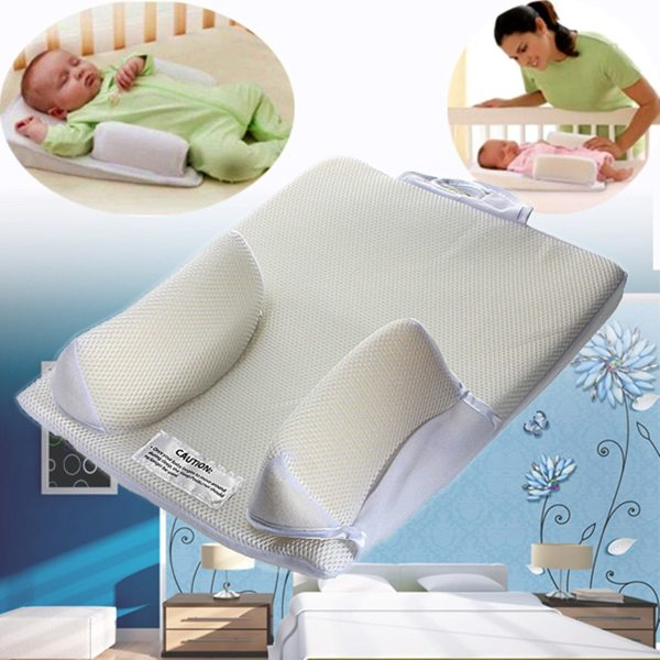 Baby Care Infant Newborn Anti Roll Pillow U ltimate Vent Sleep Fixed Positioner Prevent Flat Head