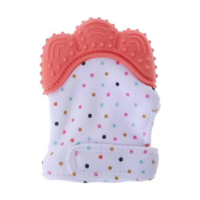 Baby Teether Gloves Squeaky Grind Teeth Oral Care Teething Pain Relief Newborn Bite Chew Sound Toys 3