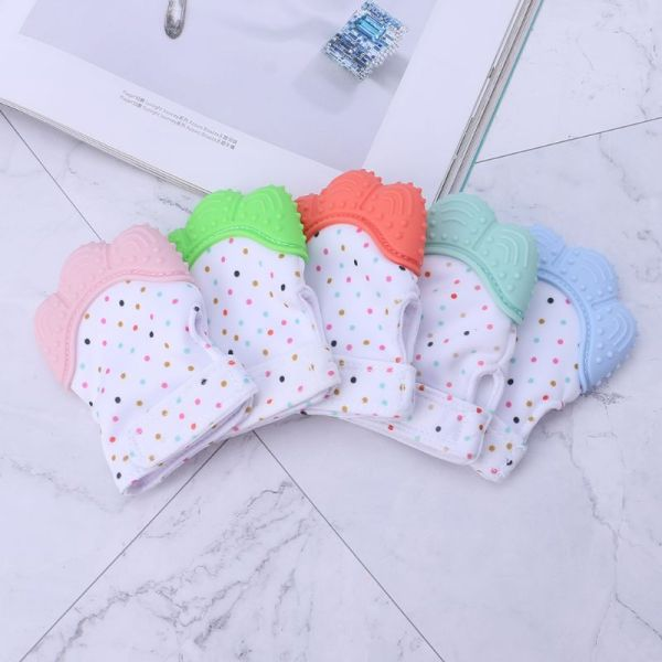 Baby Teether Gloves Squeaky Grind Teeth Oral Care Teething Pain Relief Newborn Bite Chew Sound Toys 4