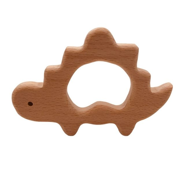 Baby Wooden Teethers Food Grade Beech Wood Animal Tortoise Koala Whale Turtle Wooden Shape Pacifier Wooden 3