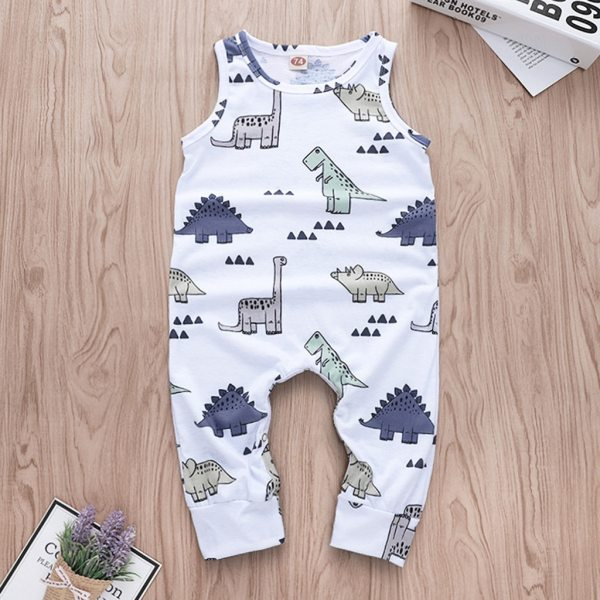 Cartoon Dinosaur Romper Toddler Baby Boys Jumpsuit Clothes Playsuit Outfits roupas menino Onesies baby clothing kinder