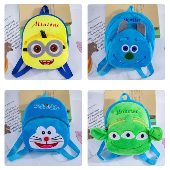Cute Cartoon Mochila Bebe Animal Prints Kids Plush School Bags Toy Kawaii Bag Children Gifts Baby 1